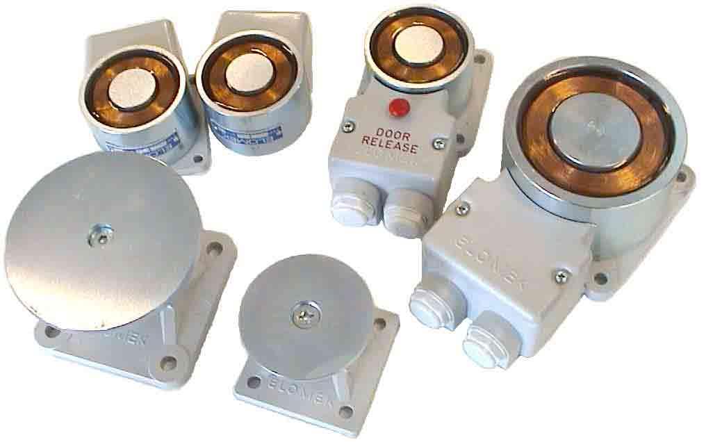 Elomek Door Holder Electro Magnets Fire Door Control